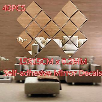40pcs 3d Acrylic Wallpaper & Stickers Beautiful Fashion For Home Decor Removable Wallpaper