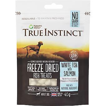 True Instinct Witte Vis met zalm gevriesdroogde traktaties voor volwassen honden - 40g