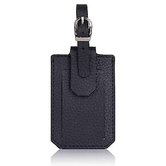 Slate Grey Richmond Luxury Leather Luggage Tag