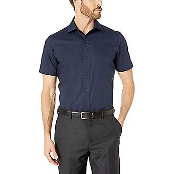 BUTTONED DOWN Men's Tailored Fit Stretch Spread-Collar Short-Sleeve Non-Iron ...