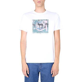 Ps Door Paul Smith M2r011rep239101 Men's White Cotton T-shirt