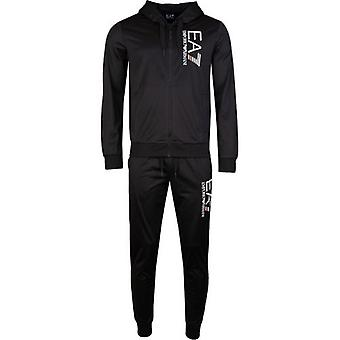Ea7 Train 7 Lines Poly Hooded Tracksuit
