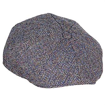 ZH015 (SLATE HB XL 62cm ) Arran Harris Tweed 8-Pc Cap