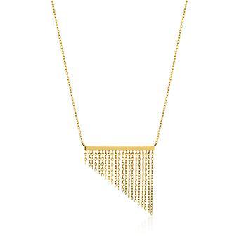 Ania Haie Sterling Silber glänzend gold vergoldet Fransen Herbst Halskette N013-02G