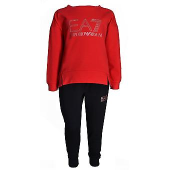 EA7 Girls EA7 Girl's Red And Black Tracksuit
