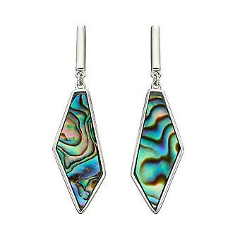 Fiorelli Silver Asymmetric Abalone Earrings E5895