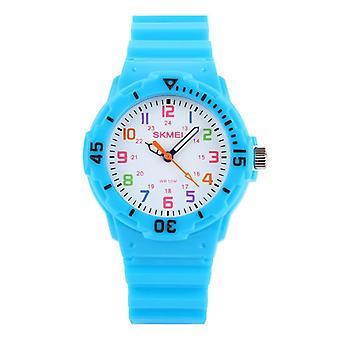 Impermeable Luminoso LED Digital Touch Reloj de niños - Azul claro