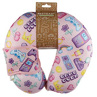 Retro Gaming Next Gen Relaxeazzz Travel Pillow & Eye Mask Set