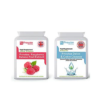 Raspberry Ketones + Colon Cleanse | Suitable For Vegetarians & Vegans | Made In UK