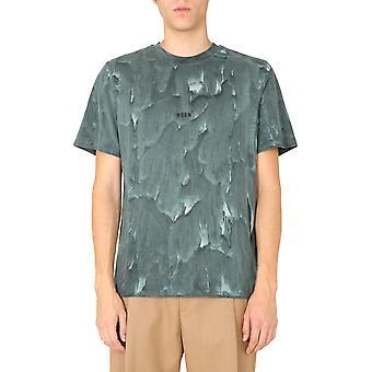 Msgm 2940mm17920759436 Mænd's Grøn Bomuld T-shirt