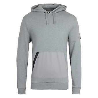 Lyle & Scott Zip Pocket Grå Marl Hooded Sweatshirt