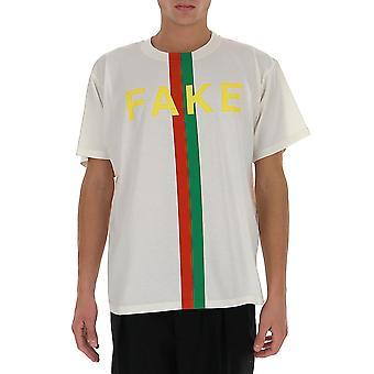 Gucci 616036xjcxx9095 Men's White Cotton T-shirt