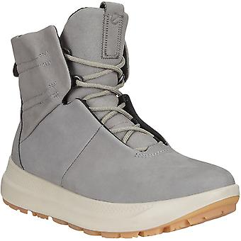 Ecco Womens Solice Gore-Tex Winter Warm GTX Leather Snow Boots Shoes - Grey
