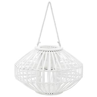Hanging Candlestick Lantern Willow White