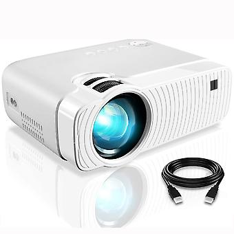Video Projector with 5000 Lumens Full HD 1080p, 180 inch Display 50000 Hours Lamp Life LED Video Projector