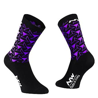 Pro Cycling Socks Mannen Vrouwen Fiets Sport Ademende Road Outdoor Racing