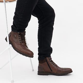 ريكر F5514-26 الرجال أحذية الكاحل الجلد براون