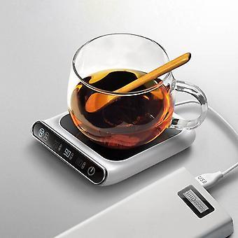 Heated Mug Coasters Cup Heater Usb Chargethermostat Warm Cup (blanc)