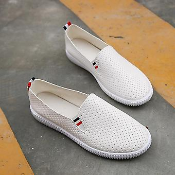 Baskets femme Flats Cut-out Loafers Pu Leather Slip-on Shoes