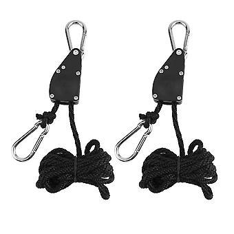 1/4 Grow Light Rope Ratchet Lights Lifters Reflector Hangers Reflector