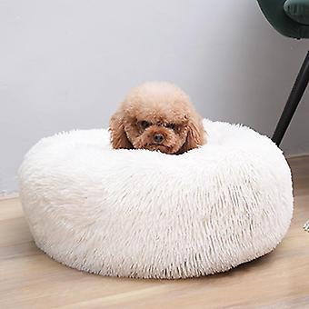 Soft Plush Dog Bed - Formă rotundă Sac de dormit, paturi calde de iarnă