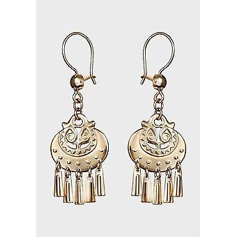 Kalevala Earrings Women's Moon goddess 14K Gold 1603032K