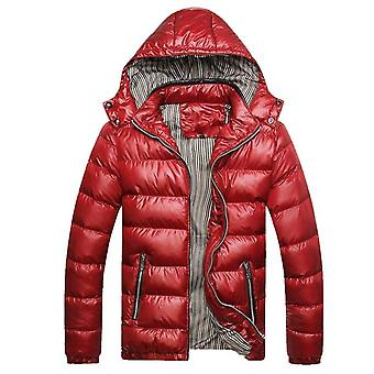 Naranjasabor Winter Men's Coats Warm Thick Male Jackets Padded Casual Hooded
