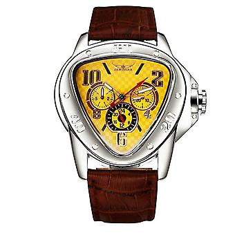 Men Automatic Watch, Mechanical Wristwatch Leisure Sport Car Race, Pilot Big