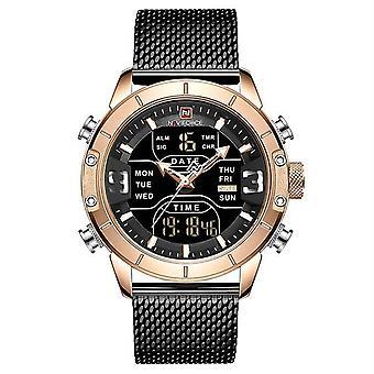 Analog/digital Watches, Men Luxury Brand Stainless Steel Sports  Waterproof