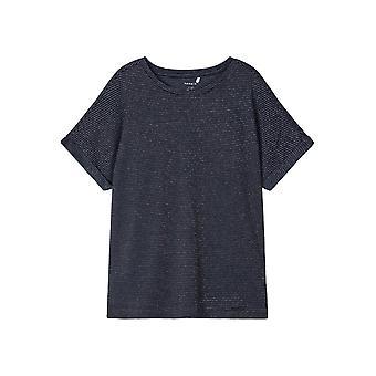 Name-it Meisjes Tshirt Kyrra SS Dark Sapphire