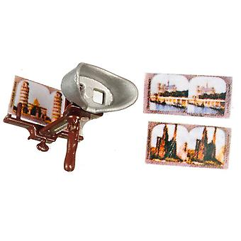 Dolls House Chrysnbon Sterioscope Set Old Fashioned Victorian Accessory