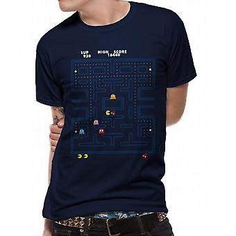 Pacman Unisex Adults Maze Chase Design T-shirt