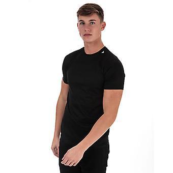 Men's Armani Neck Logo T-Shirt in Black