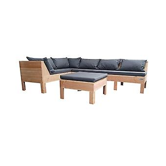 Wood4you - Loungeset 9 Douglas 220x200 cm - incl kussens L-opstelling