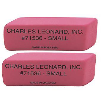 Petite gomme compensée rose caoutchouc naturel, 36 par paquet, 2 paquets