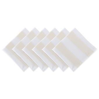 Dii Natural/Blanco Dobby Stripe Napkin (Conjunto de 6)