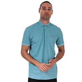 Men's Ted Baker Clubs Polo Shirt in blau