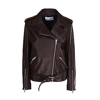 Drome Dpd3105pd1098967 Women's Brown Leather Outerwear Jacket