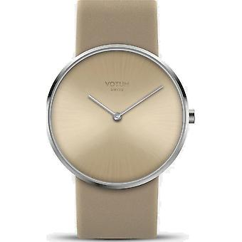 VOTUM - Reloj de señora - CIRCULO - Puro - V01.10.10.04 - Correa de cuero - beige