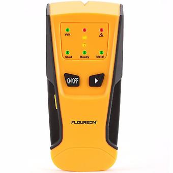 Floureon 3 en 1 Détecteur de métaux AC Live Wire Detector Stud Finder Detector LED Light Beep Indication