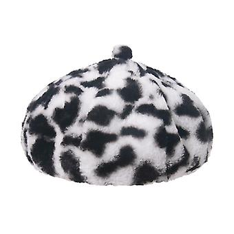 Winter Outdoor Vacation Lady Panama, Solid Thickened, Soft Warm Fishing Cap,