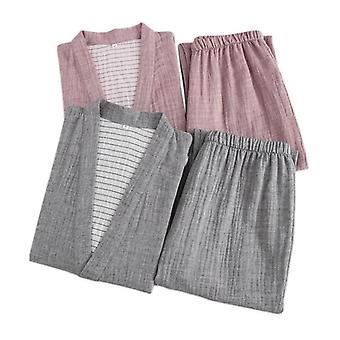Couple Robes Pajama Sets Crepe Cotton Sauna Gauze Suits Women