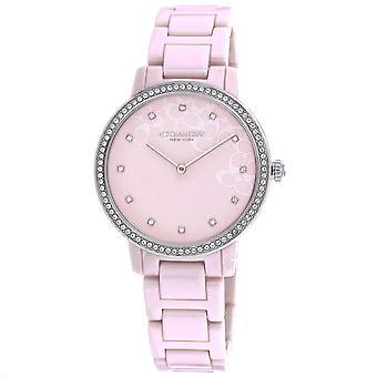Coach Women's Audrey Pink Dial Watch - 14503500