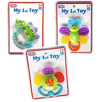 Set da 3 A a Z My 1st Toy Rattle Teethers Baby