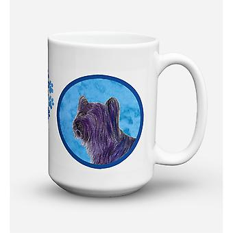Caroline's Treasures SS4739-BU-CM15 Skye Terrier Microwavable Ceramic Coffee Mug, 15 oz, Multicolor