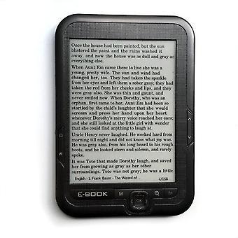 6 بوصة ه الحبر الرقمية قارئ الكتاب الإلكتروني المدمج في ذاكرة 8gb ودعم بطاقة SD 800 * 600 قارئ الشاشة الحبر mp3 لاعب