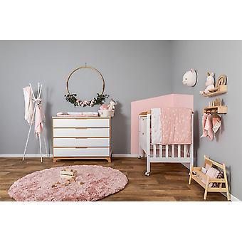 Pink White Star Baby Crib Sheets
