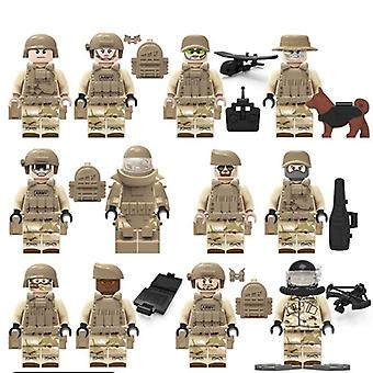 Military Special Forces Soldiers Bloks Figures Guns Weapons Compatible