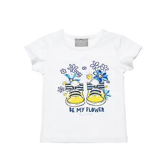 Alouette Girls' Blouse With Print And Glitter