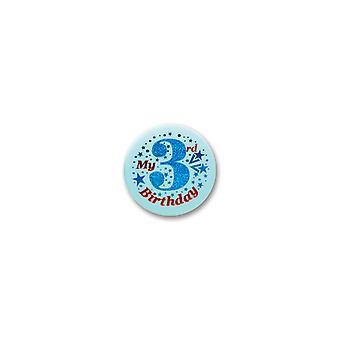 Mein 3. Geburtstag Satin Button (Pack von 6)